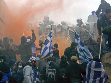 Protesta en Atenas