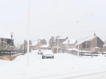 Imagen de la nevada en Cantabria