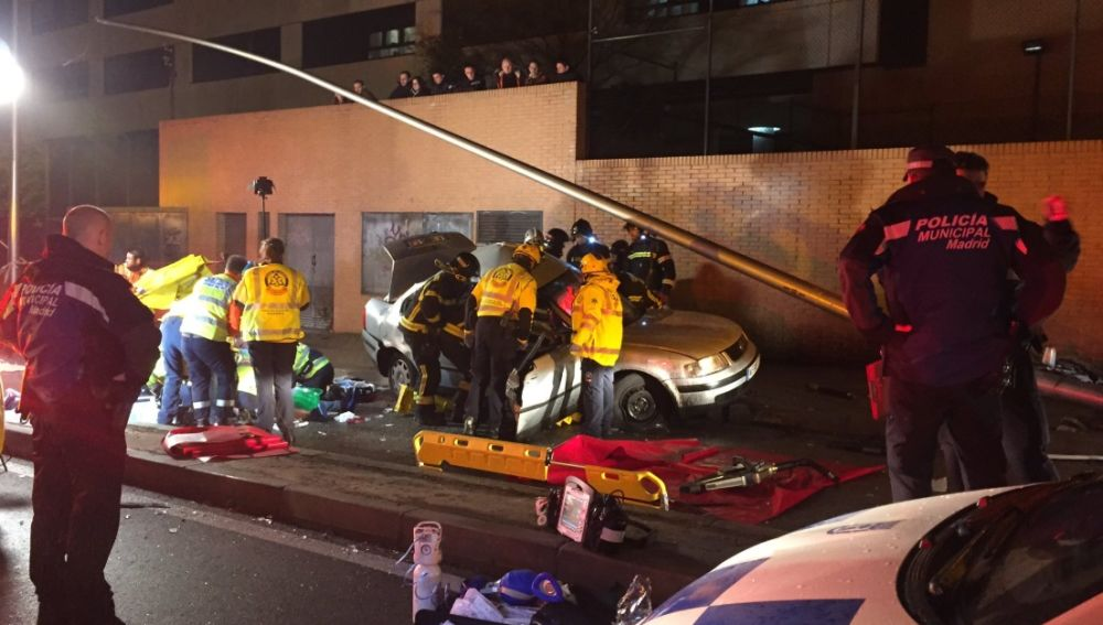 Accidente de tráfico en Madrid