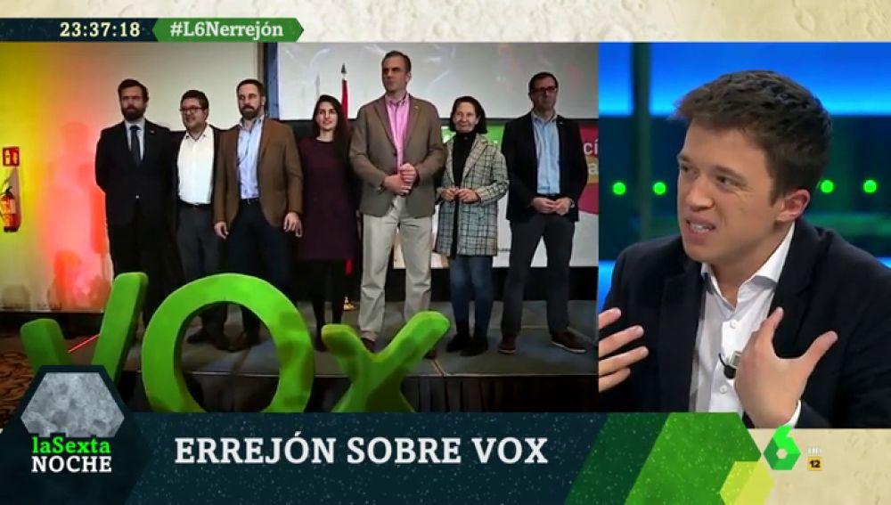 """Errejón, contrario a los cordones sanitarios: """"Casado y Rivera están 'tocandido' lo que dice Vox y me hablo con ellos"""""""