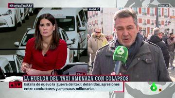 """Julio Sanz (Federación del Taxi): """"No justificamos la violencia, pero el responsable es quien ha llevado a las familias a una situación límite"""""""