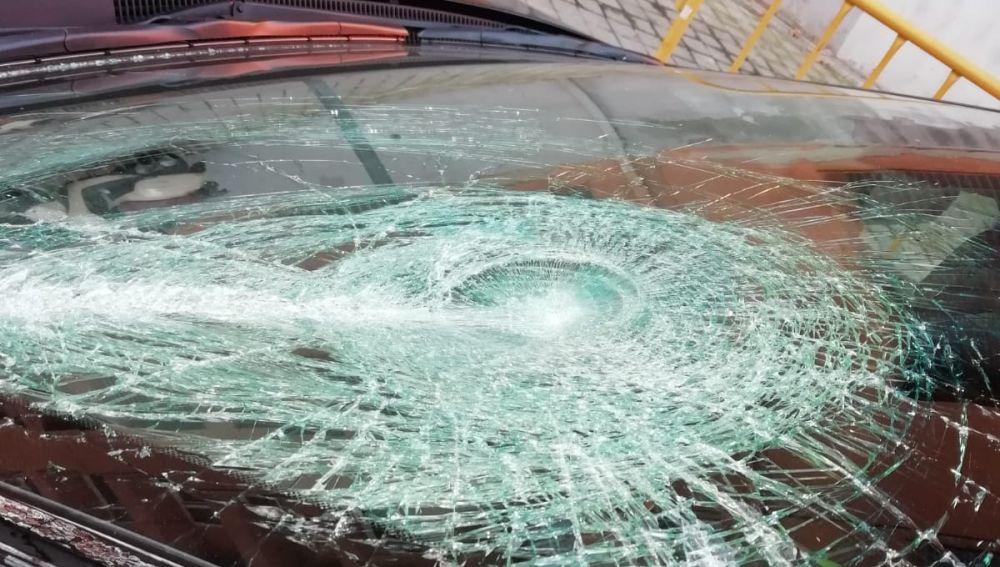 Primer ataque a un vehículo VTC durante la huelga de taxi en Madrid