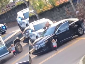 Un bebé descalzo se 'entrega' a la policía
