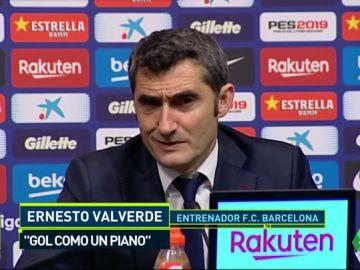 """Valverde: """"Para mí el gol de Luis Suárez es clarísimo, como un piano de grande"""""""