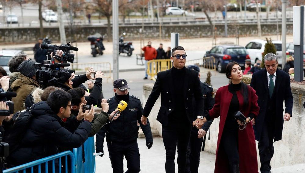 Cristiano Ronaldo llega a la Audiencia Provincial de Madrid