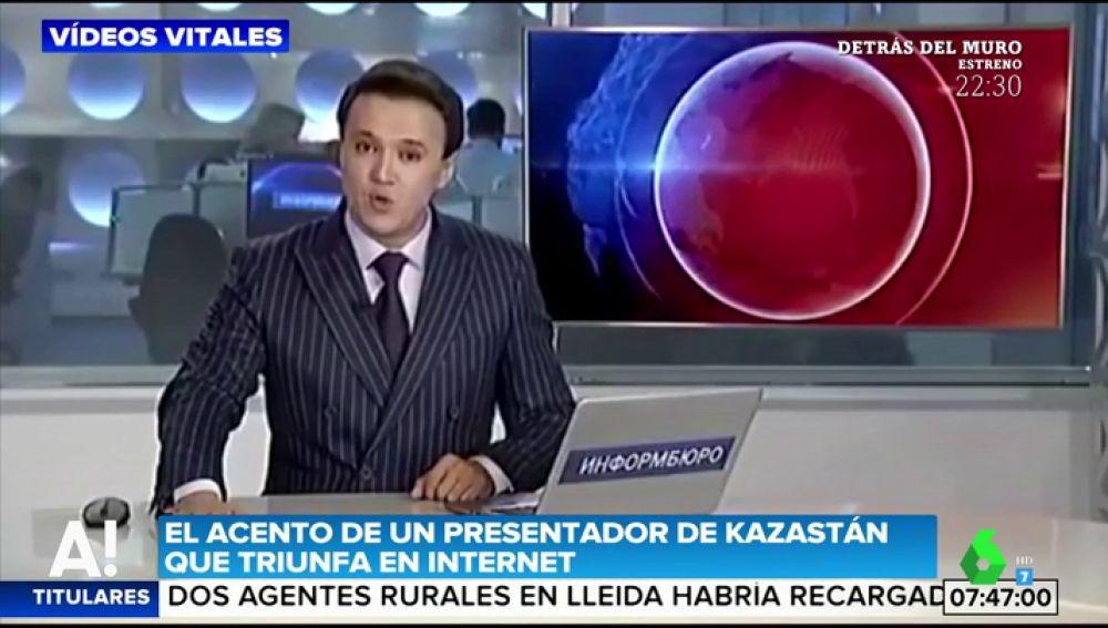 Así suena el acento de un presentador de Kazastán que se ha hecho viral