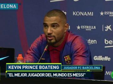 """Kevin-Prince Boateng, presentado como nuevo jugador del Barcelona: """"Sé que no es mi rol venir a jugar de titular"""""""