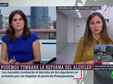 La portavoz adjunta de Unidos Podemos en el Congreso, Ione Belarra