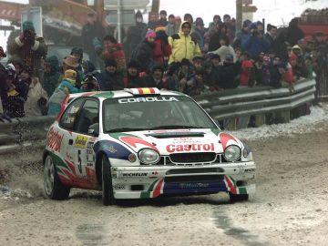 Carlos Sainz en el Rally de Montecarlo en 1998