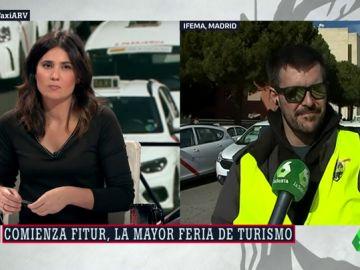 Saúl Crespo, portavoz del comité de huelga del taxi