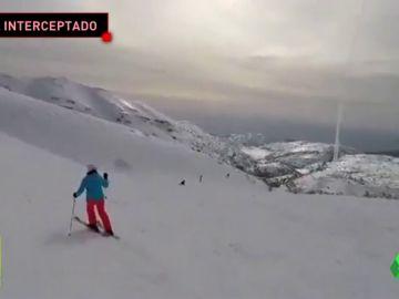 Unos esquiadores graban el lanzamiento de un misil antiaéreo israelí