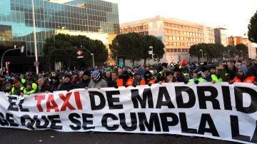 Huelga de taxistas en Ifema