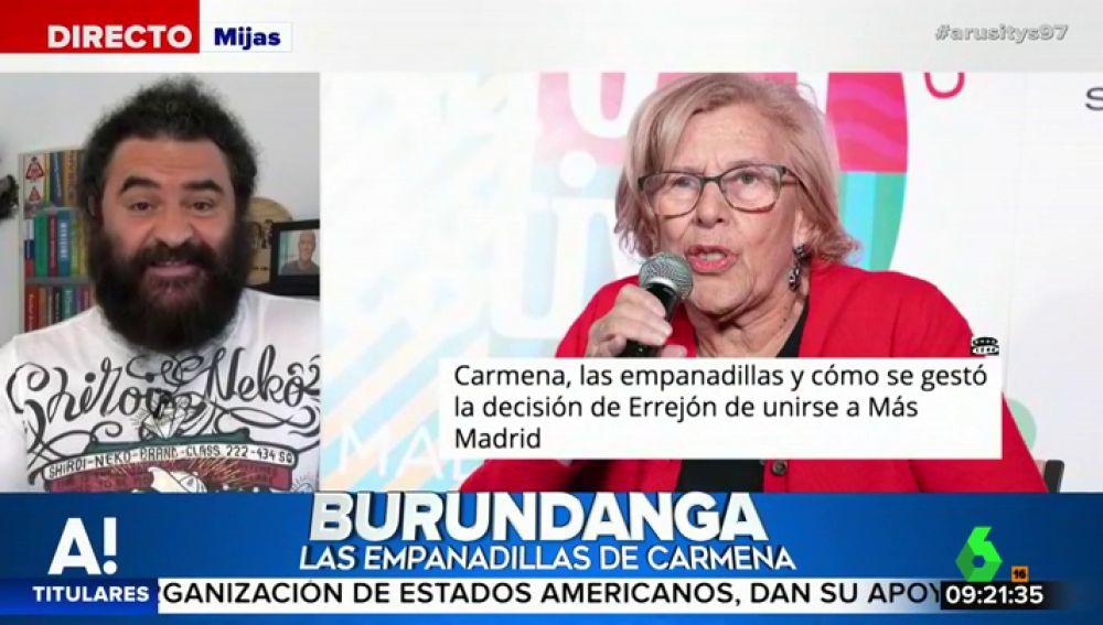 """El Sevilla y la """"conspiración de las empanadillas"""": """"Me recuerda a la burundanga. Si Carmena quisiera se iba a su partido Santiago Abascal"""""""