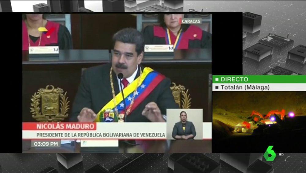 """Maduro acusa a Trump de dirigir un golpe de Estado y afirma que no renunciará """"a los compromisos con la patria"""""""