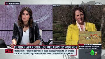 """Carolina Bescansa, contundente tras la dimisión de Espinar: """"Todo el mundo que no está de acuerdo es un traidor o un conspiranoico"""""""