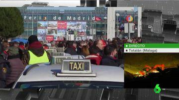 Huelga de taxi en Madrid