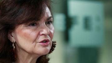 La vicepresidenta del Gobierno, Carmen Calvo.