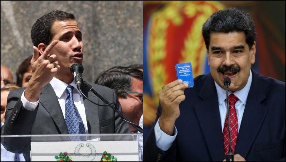 Imagen de Guaidó y Maduro