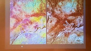 Imagen de las improntas de manos encontradas en las cuevas de Altamira