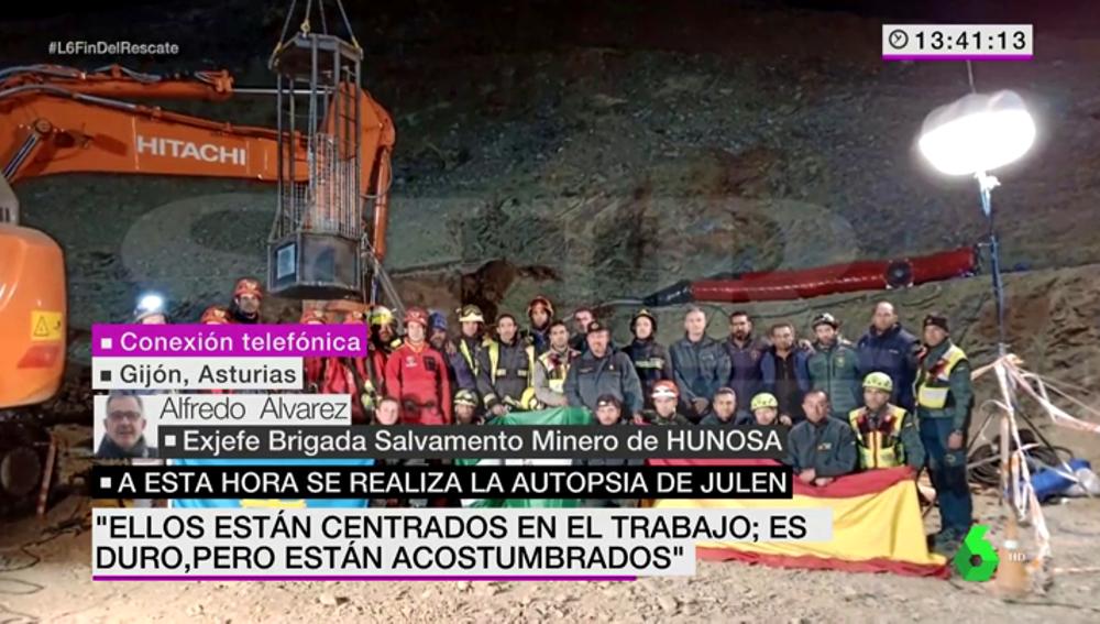 """La emocionante petición de Alfredo Álvarez: """"Que los políticos mantengan esta institución es una buena manera de honrar a la Brigada de Salvamento de Julen"""""""