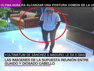 Estas son las imágenes de la supuesta reunión entre Juan Guaidó y Diosado Cabello