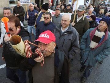 Manifestantes en Santiago de Compostela