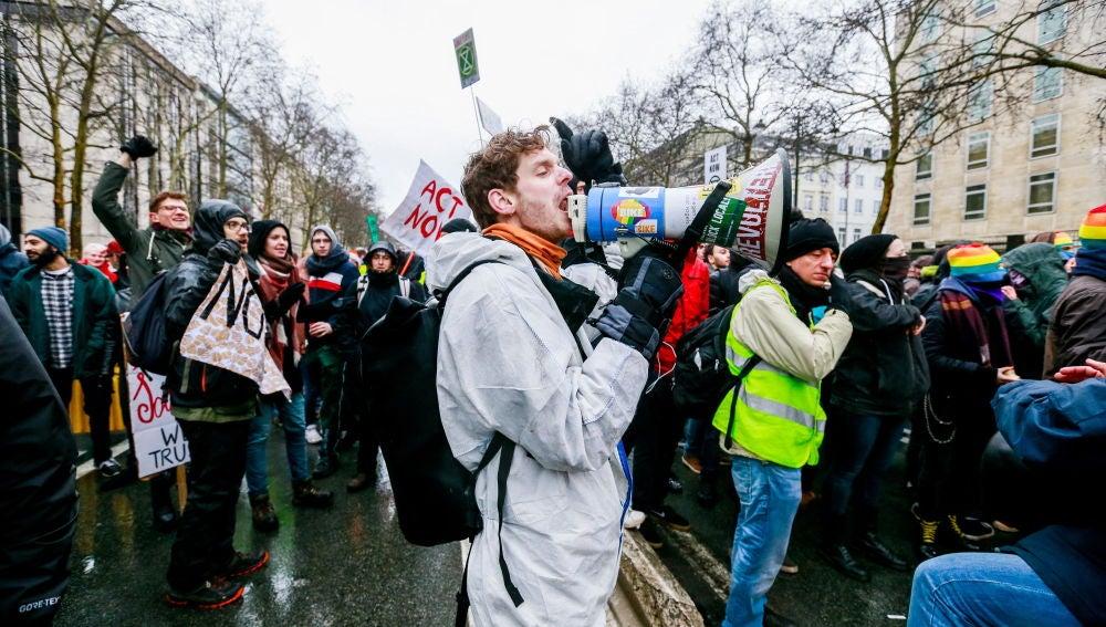 Manifestación en Bruselas contra el cambio climático