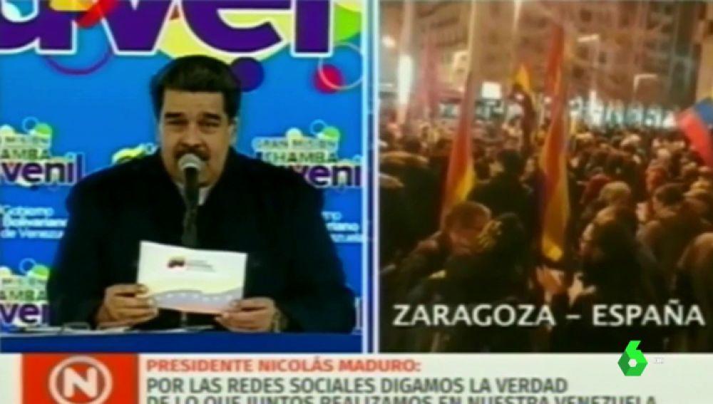 Nicolás Maduro cantando 'Que viva España'