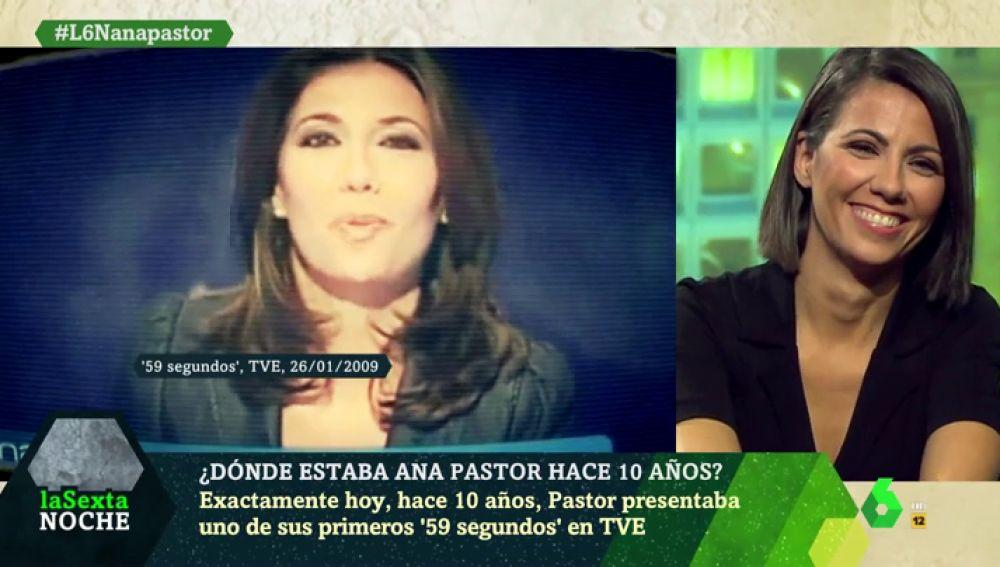 """Ana Pastor se enfrenta a su 10 years challenge particular: """"Ahí llevaba el pelo un poco más a lo Pantoja"""""""