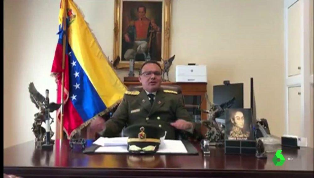 El coronel José Luis Silva Silva, agregado militar de la embajada de Venezuela en EEUU