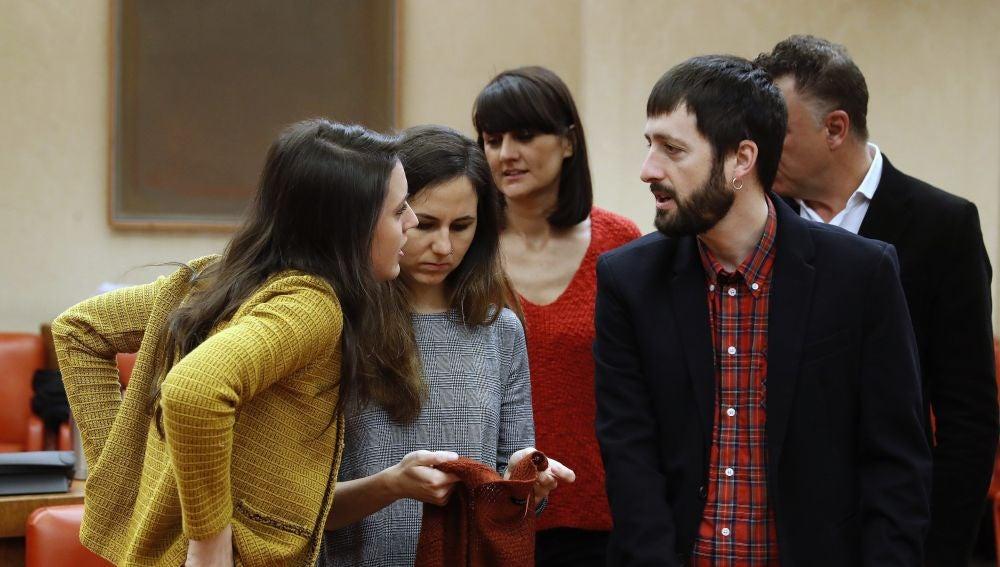 Las diputadas de Podemos Irene Montero e Ione Belarra