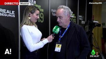 """Arusitys se cuela en Madrid Fusión para hablar con Ferran Adriá: """"La gastronomía mueve un 33% del PIB, es una brutalidad"""""""