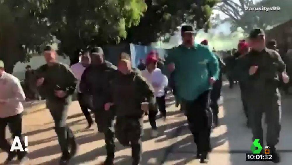 Imagen de Maduro corriendo
