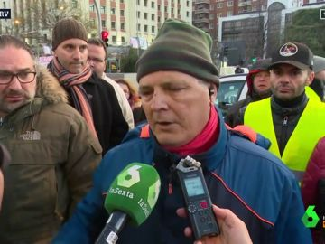 Totales de los taxistas en huelga en Madrid