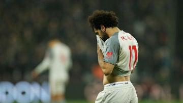 Salah, abatido en el partido contra el West Ham