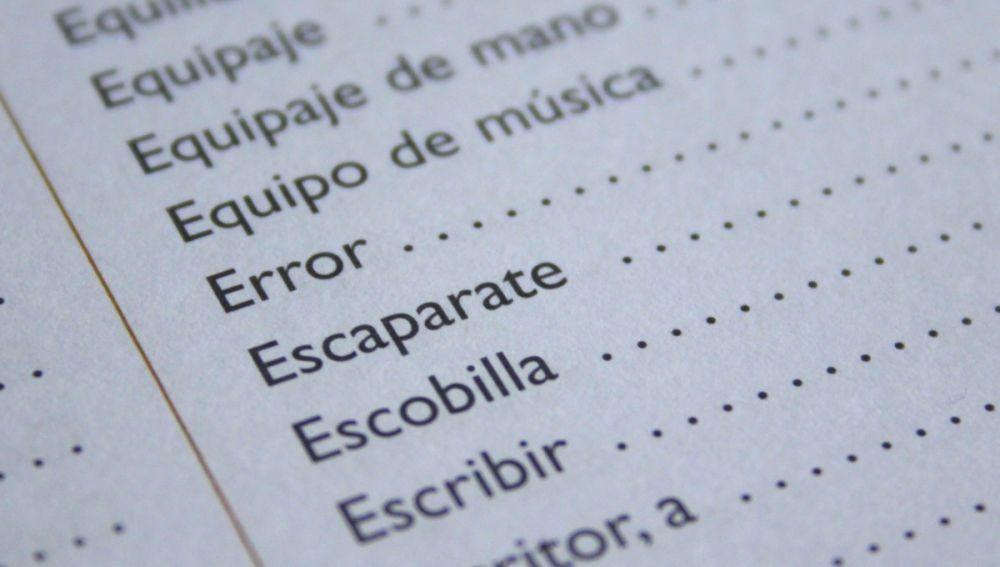 Diccionario español