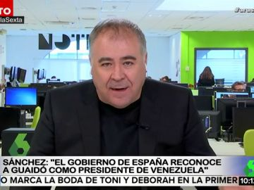 """García Ferreras analiza la intervención de Sánchez para reconocer a Guaidó: """"España está marcando la pauta en la UE"""""""