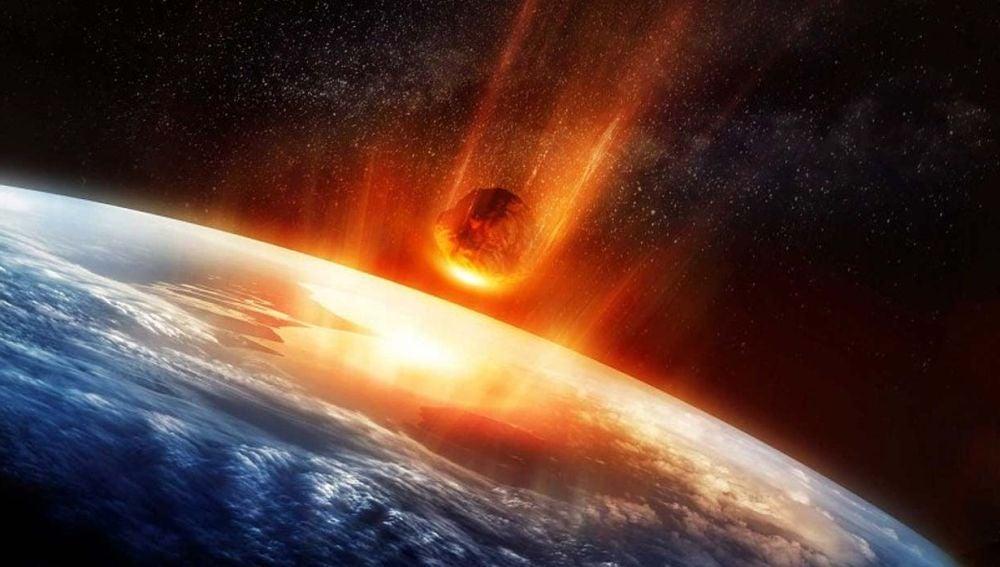 Recreación de un asteroide a punto de colisionar contra la Tierra (Archivo)