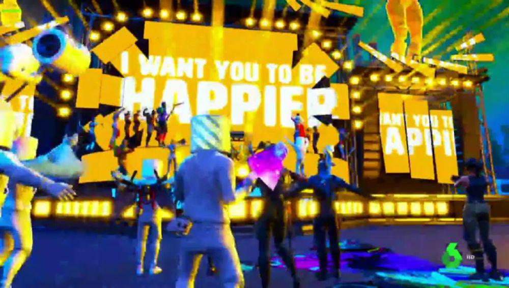 El concierto virtual de Marshmello en Fortnite