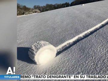 ¿Cómo se forman estos 'rollos' de nieve que aparecieron en Reino Unido?