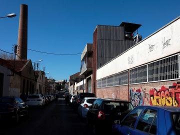 Vista de la nave industrial abandonada en Sabadell, Barcelona