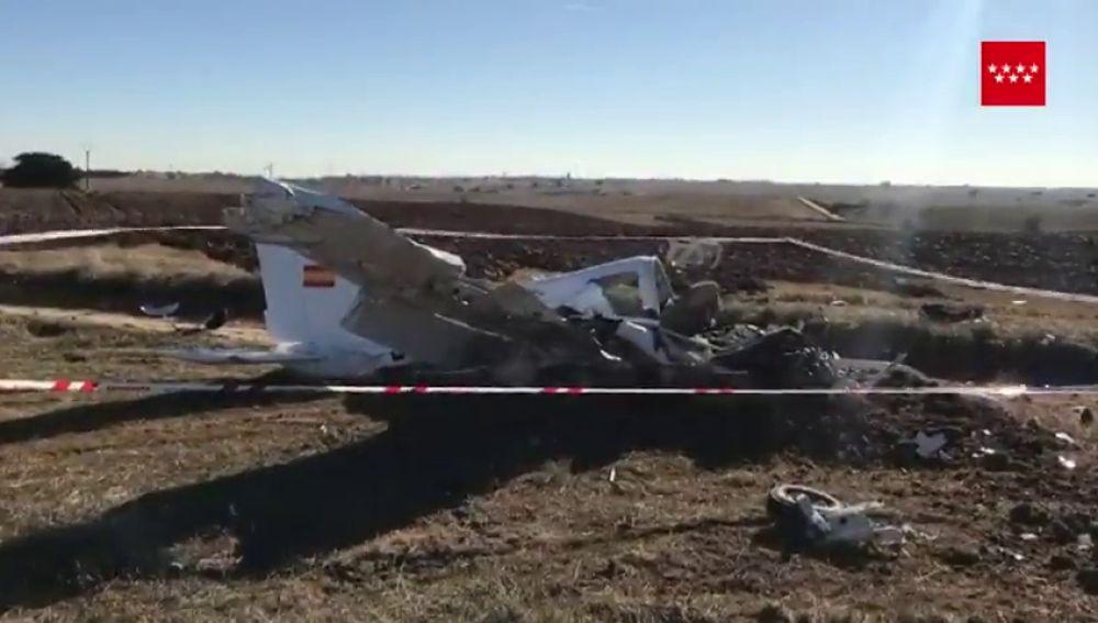 Avioneta accidentada en Quijorna, Madrid