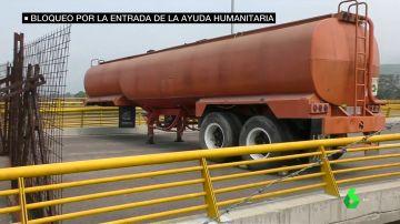 Bloqueada la vía por la que pasaría la ayuda humanitaria a Venezuela