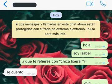 Captura de pantalla de la conversación
