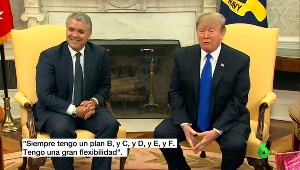 Trump dice tener hasta un plan F si Maduro no se va del poder