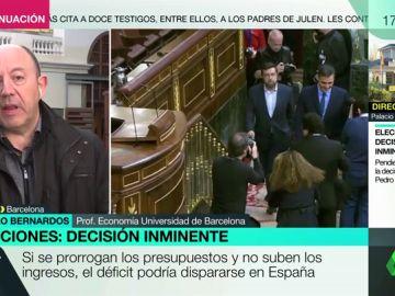 """Gonzalo Bernardos: """"Lo mejor que puede hacer el PSOE es convocar elecciones, si no, estaría haciendo el programa del PP"""""""