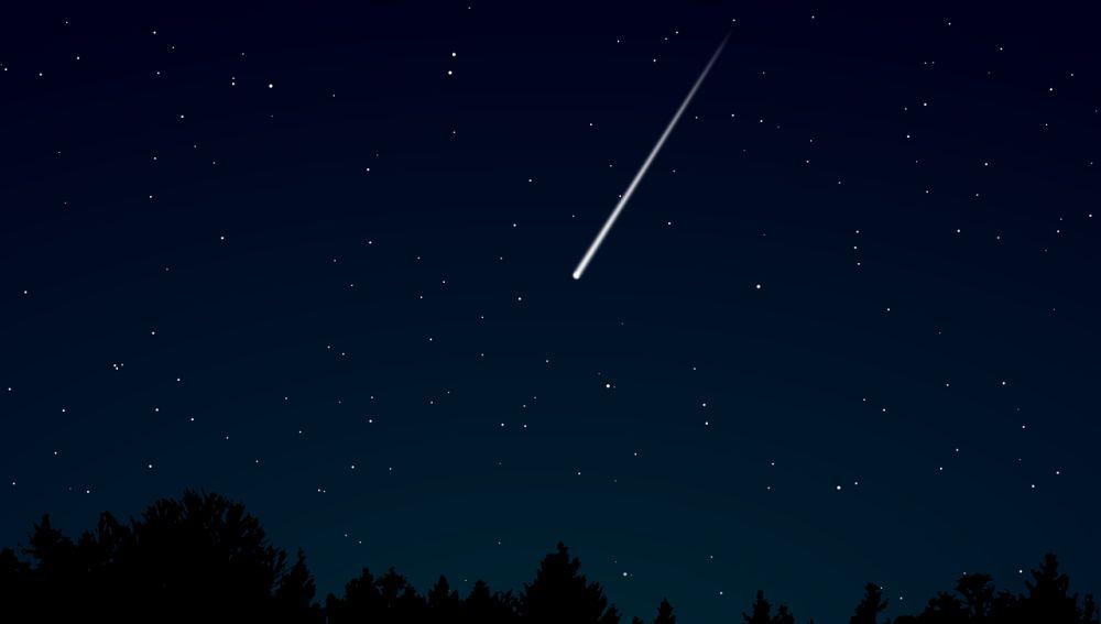 Una piedra cósmico surcando el cielo (Archivo)