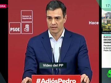 """El vídeo en el que el PP le recuerda a Pedro Sánchez cómo pidió a Mariano Rajoy convocar elecciones: """"Sin Presupuestos no hay nada que gobernar"""""""
