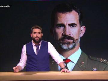 """Dani Mateo desvela el """"verdadero"""" motivo de la visita de Felipe VI al rey de Marruecos"""