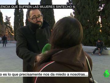 Una mujer sin hogar narra su testimonio